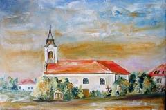 A tárkány Római katolikus templom 2013. 30×40cm olaj. vászon