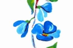 Kék virágos