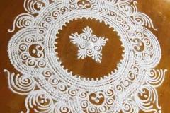 Rangoli kőporból