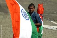 Zászlóárús valahol Indiában